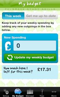 My Student Budget Planner - screenshot thumbnail