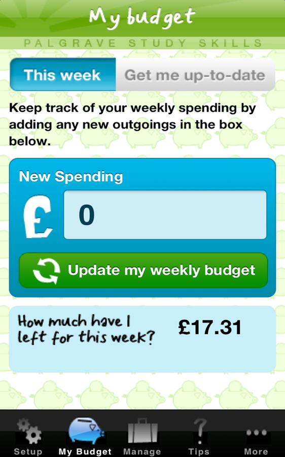 My Student Budget Planner - screenshot