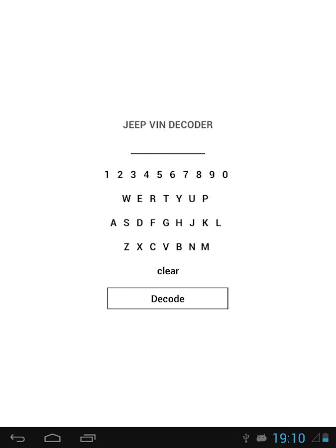 Jeep Vin Decoder >> Jeep Vin Decoder Programu Za Android Kwenye Google Play