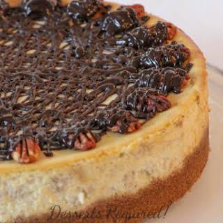 Banana Cheesecake with Pecan Graham Cracker Crust.
