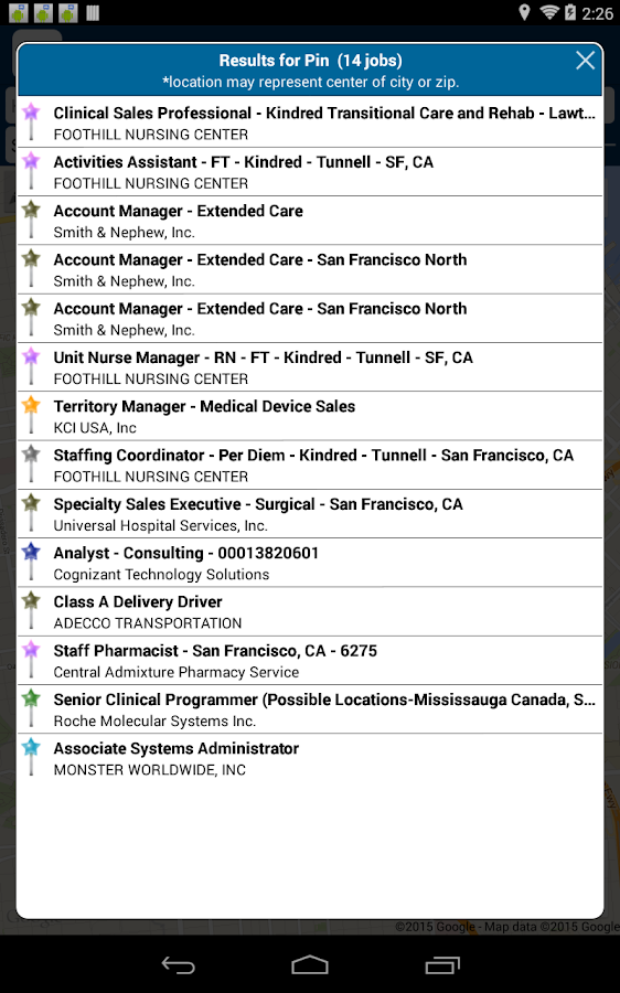 android jobs california
