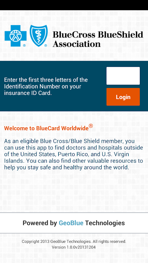 BlueCard Worldwide - screenshot