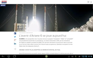 Screenshot of Sciences et Avenir
