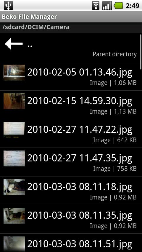 BeRo File Manager- screenshot