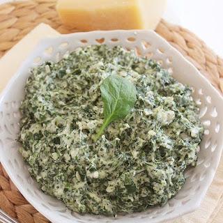 Lighter Creamed Spinach