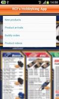 Screenshot of RCI's Hobbyking App