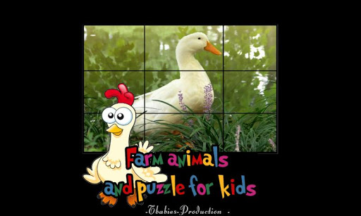 子供のための農場の動物のパズル
