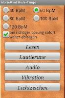 Screenshot of MorseMind Mode+Tempo
