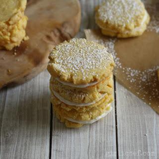 Lemon Cornmeal Sandwich Cookies.