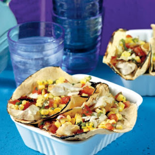 Grilled Garlic-Lime Fish Tacos.