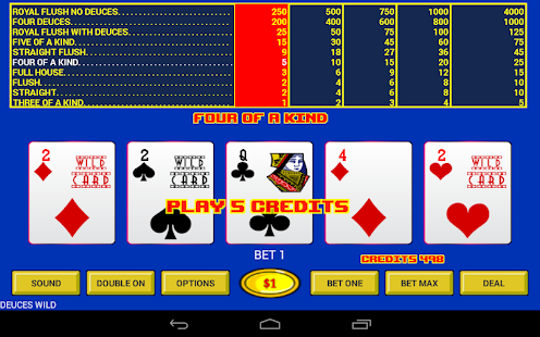 Deuces Wild - Video Poker