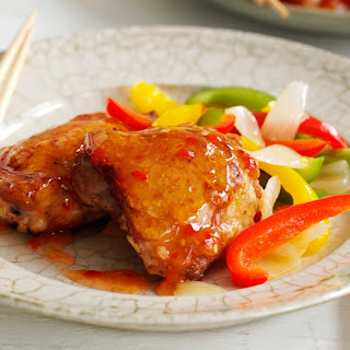 Chinese Sweet Chile Chicken Thighs.