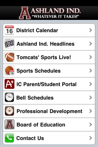 Ashland Independent Schools - screenshot