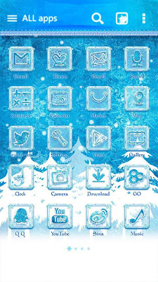 Snowy GO Launcher Theme - screenshot
