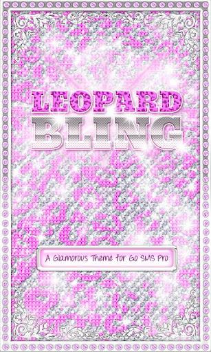 BLING♦Theme Purple Leopard SMS