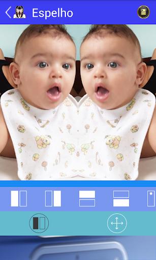 Selfie Efeito Gêmeos e Espelho