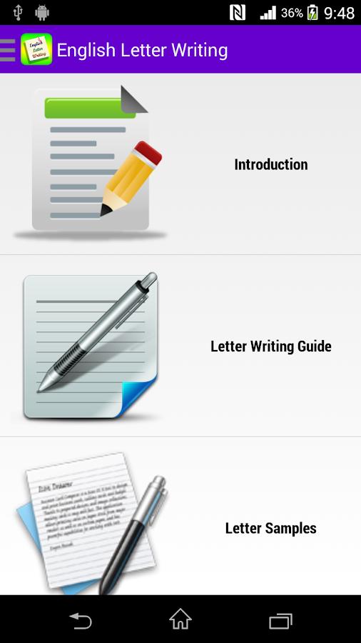 English Letter Writing Free - screenshot