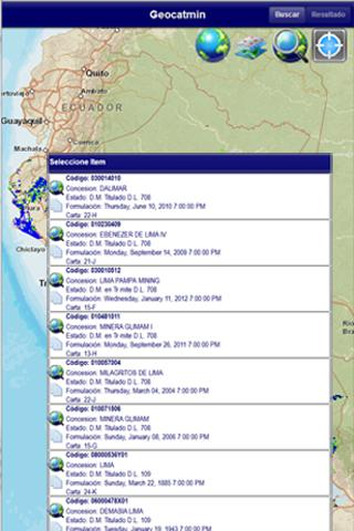 GEOCATMIN - INGEMMET - PERU- screenshot