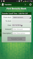 Screenshot of First Security Bank - Canby