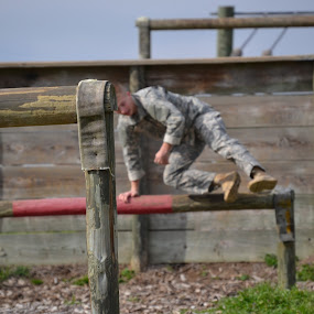 Obstacle Course by Cal Johnson - Sports & Fitness Other Sports ( jumping, obstacles, texas, running, military )