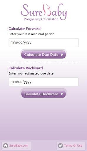 +Pregnancy Date Calc: Surebaby