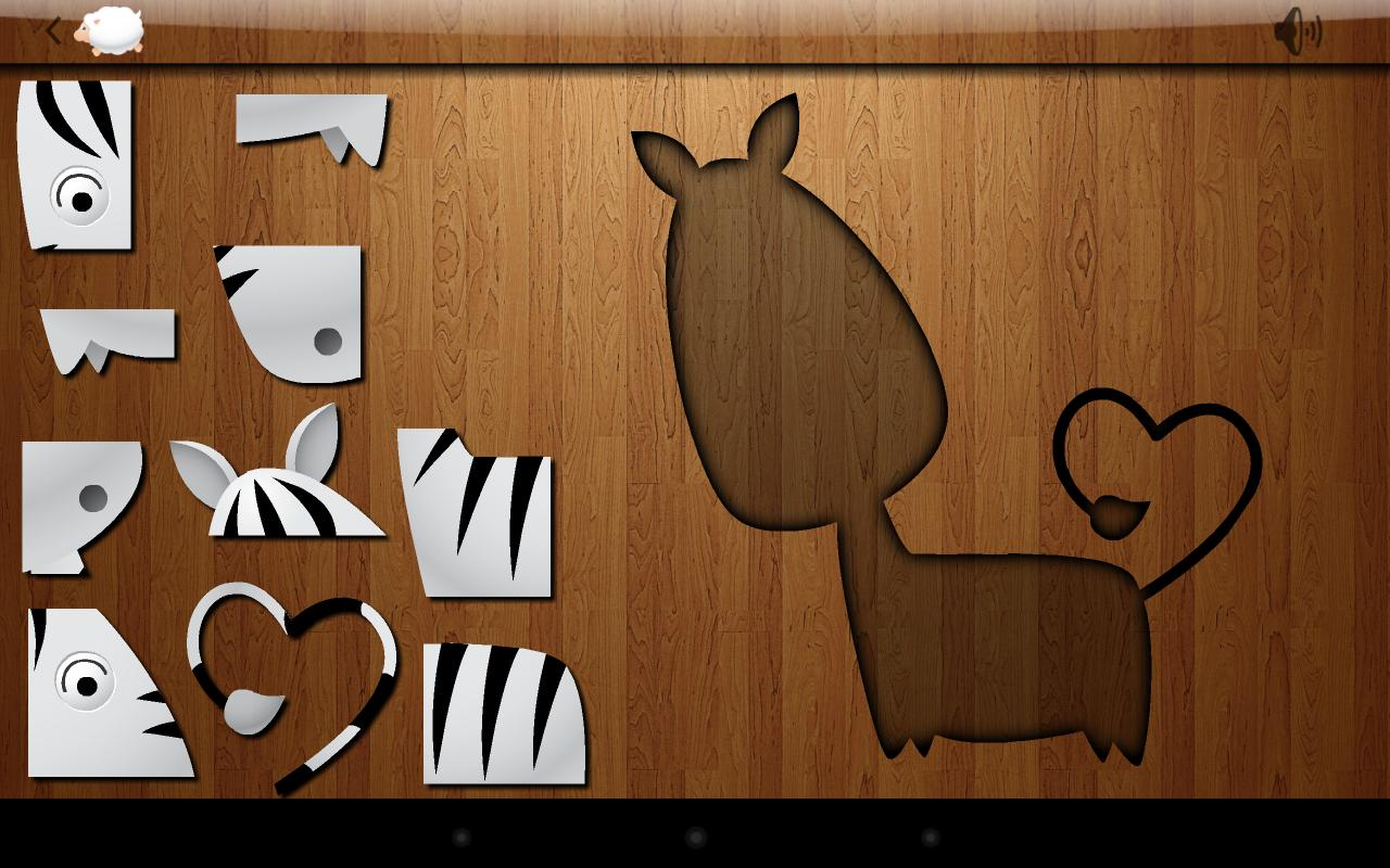 Kids Shape Puzzle – Animals - screenshot