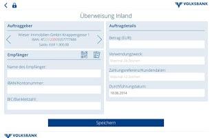 Screenshot of Volksbank Mobile Banking