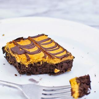 Secretly-Healthy Pumpkin Cheesecake Brownies.
