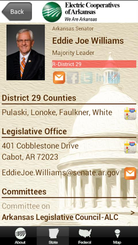 2014 AR Legislative Roster - screenshot