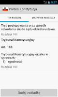 Screenshot of Constitution of Poland