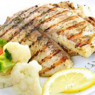 Grilled Tilapia with Sweet Lemon Butter.