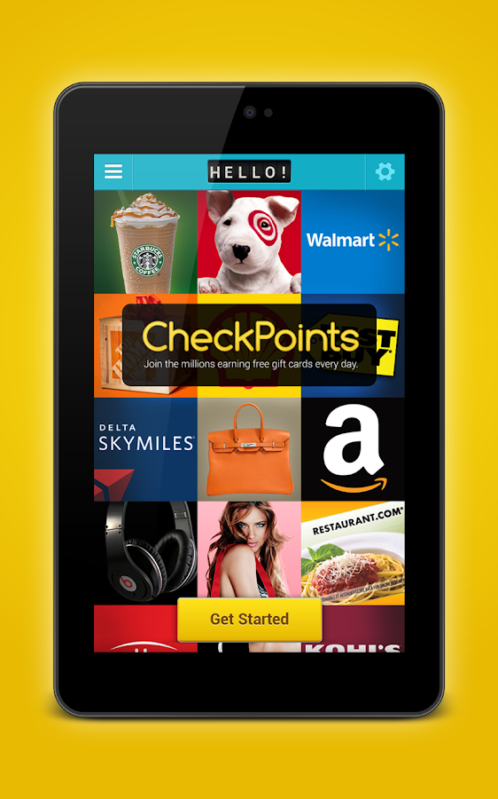 CheckPoints #1 Rewards App- screenshot