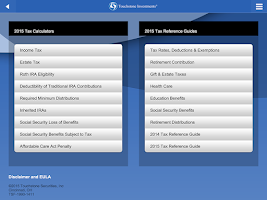Screenshot of Touchstone Investments Tax App