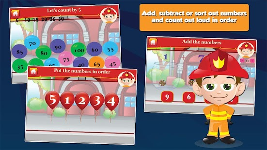 Fireman Kids Grade 1 Games- screenshot thumbnail