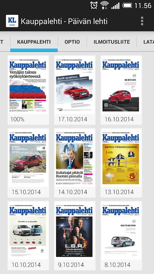 Kauppalehti - näköislehdet - screenshot
