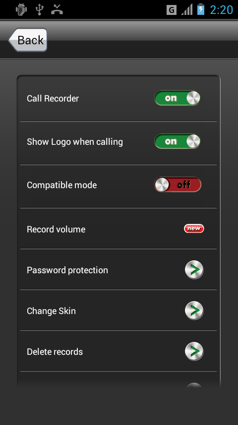 Screenshots of Call Recorder for iPhone