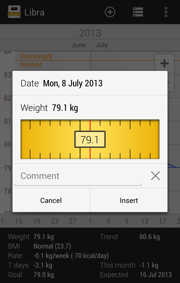 Libra - Weight Manager Screenshot 1