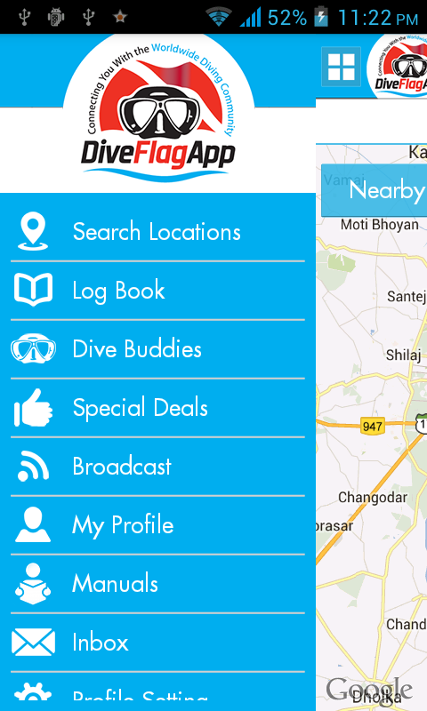 Dive Flag App- screenshot