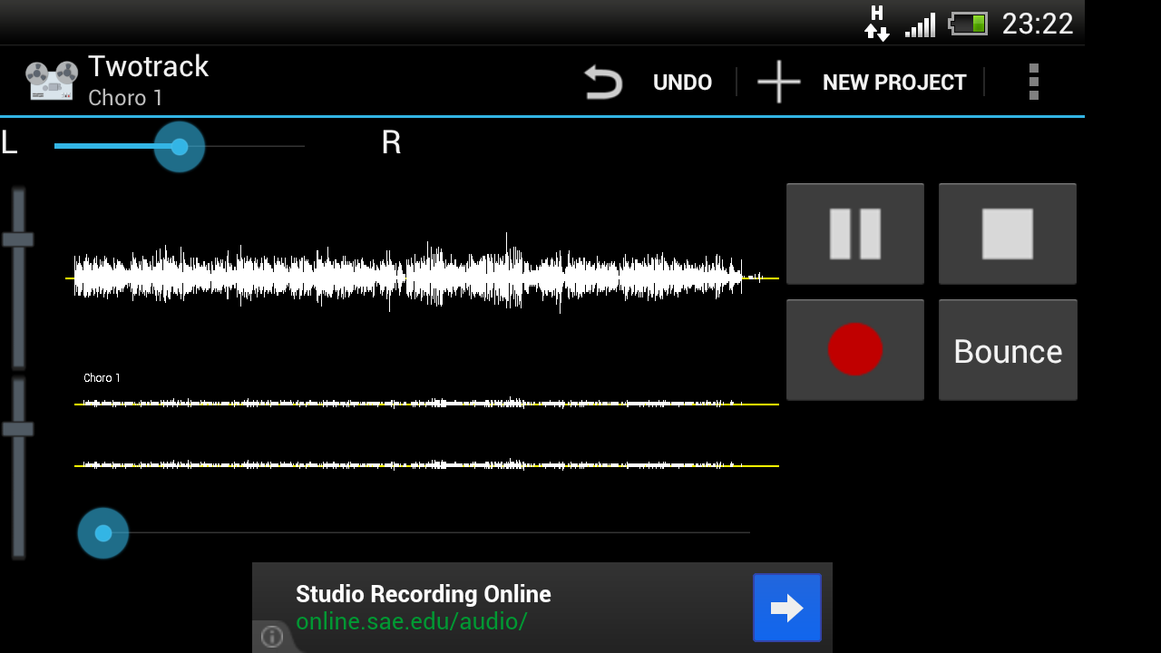 Twotrack audio recorder free - screenshot