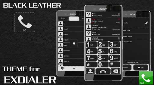 ExDialer Theme BLACK LEATHER