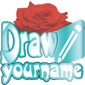 Draw your name with flowers