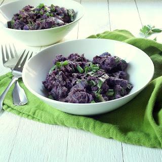 Herbed Balsamic Purple Potato Salad