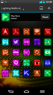 Next Launcher Theme LightingM- screenshot thumbnail