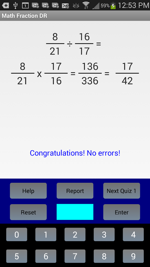 Math Fraction DR- screenshot