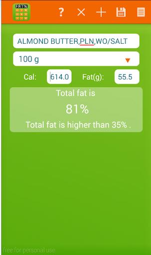 Total Fat Calculator
