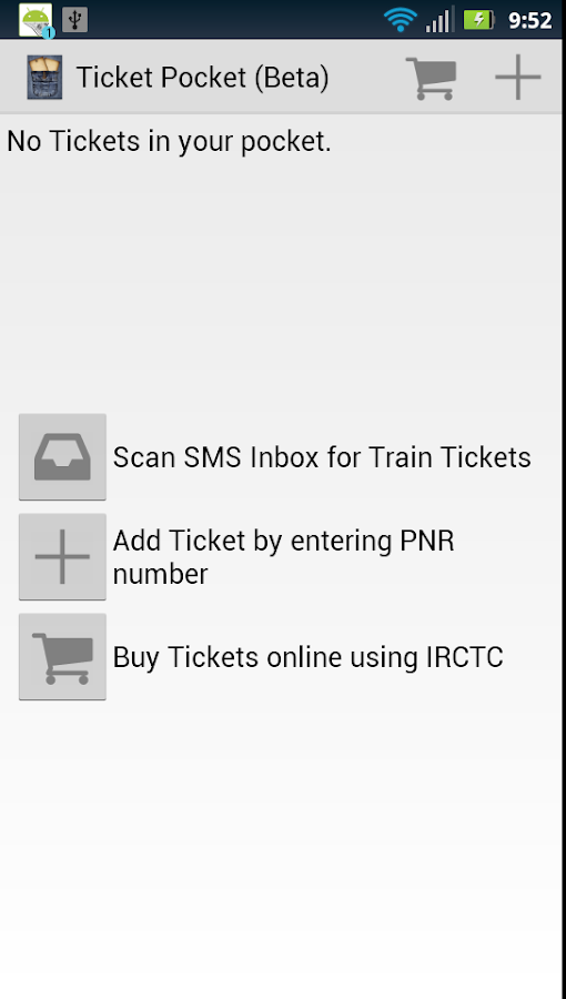 Ticket Pocket - screenshot
