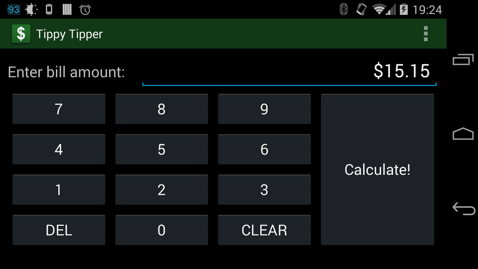 Tippy Tipper (Tip Calculator) - screenshot