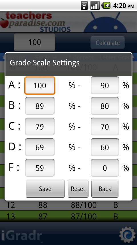 iGradr Teacher Pocket Grader - screenshot
