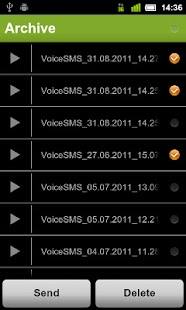 Voice SMS(MSS) - voice2voice - screenshot thumbnail