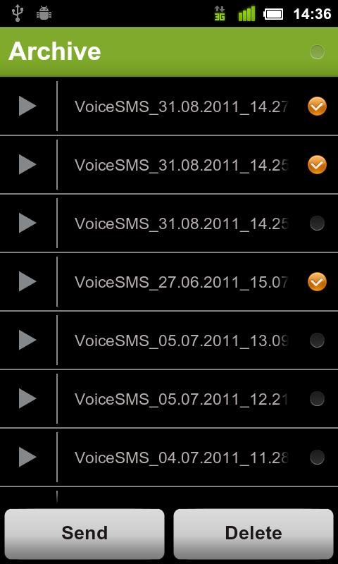 Voice SMS - voice2voice - screenshot